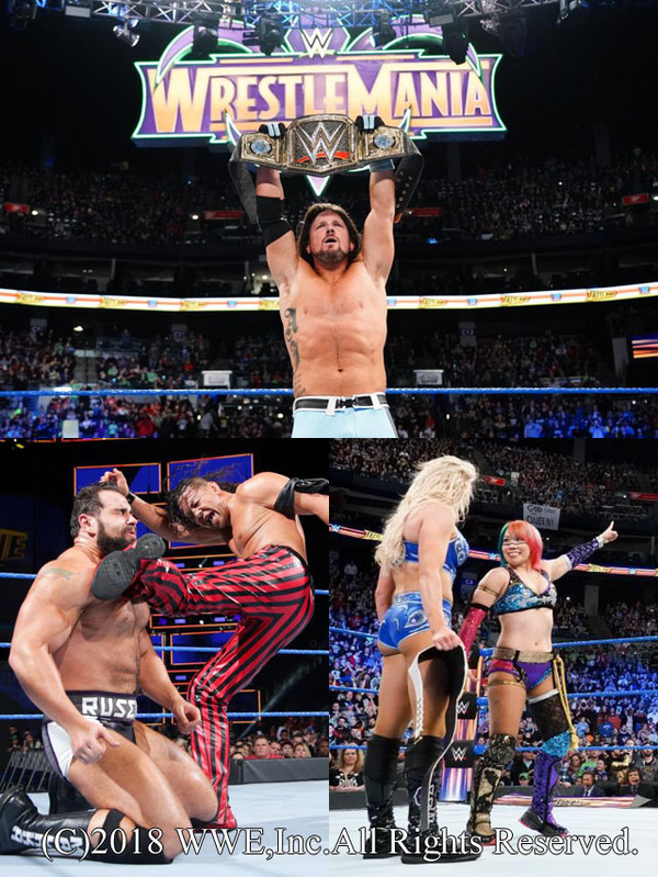 AJがWWE王座防衛、WMで中邑と対決へ、アスカはスマックダウン女子王座への挑戦を意思表示 PPV大会『ファストレーン』