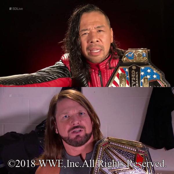 US王者・中邑がIC王者ロリンズにキンシャサ葬予告、WWE王者・AJはユニバーサル王者レスナーへの1年越し雪辱に自信満々
