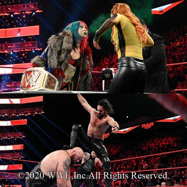 アスカがロウ女子王座戦調印式で王者ベッキーに毒霧噴射、ロリンズがフィストファイト戦でビッグ・ショーに報復