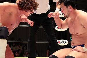 中嶋-鈴木シングル初対決は白熱ドロー 鈴木「同じ匂い感じた」