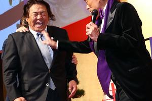 2/20 長州に闘魂ビンタさく裂! 77歳・猪木の『喜寿を祝う会』開かれる